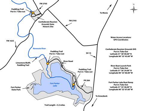 texas landmarks map tpwd limestone bluffs texas paddling trails