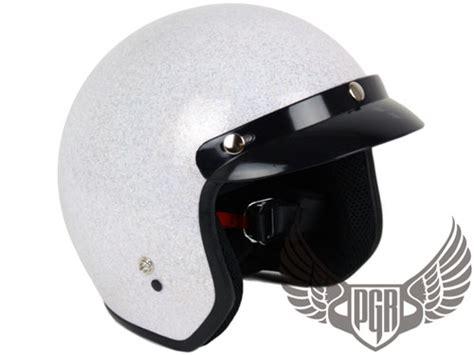 Agyo Helmet Retro Glitter Pink s m l xl glitter pink open 3 4 bobber vintage retro motorcycle dot helmet ebay