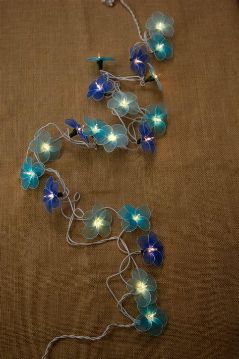 flower lights string flower string lights blue