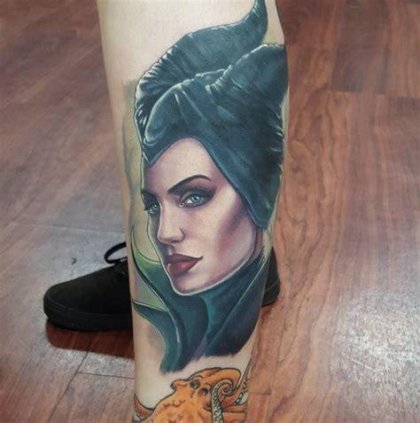angelina jolie maleficent tattoo maleficent by halo tattoonow