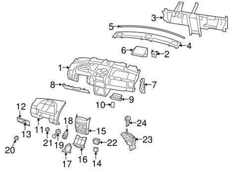 2009 chrysler town and country roof rack o e m instrument panel components for 2009 chrysler town