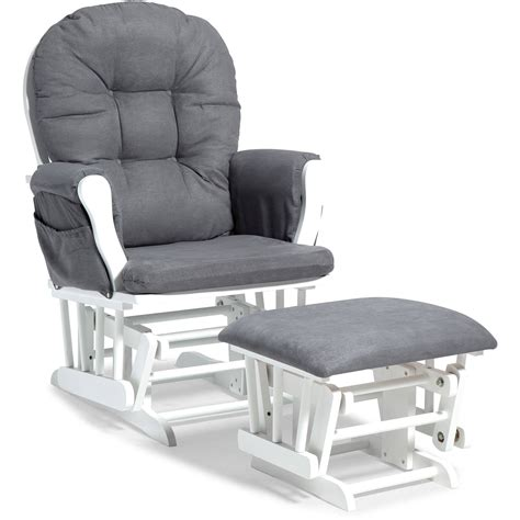 storkcraft glider and ottoman white finish buy storkcraft hoop glider and ottoman white finish and