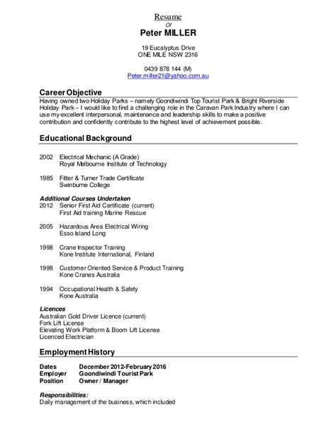 Copy Of Resume by Resume Miller 2016 Resume Copy