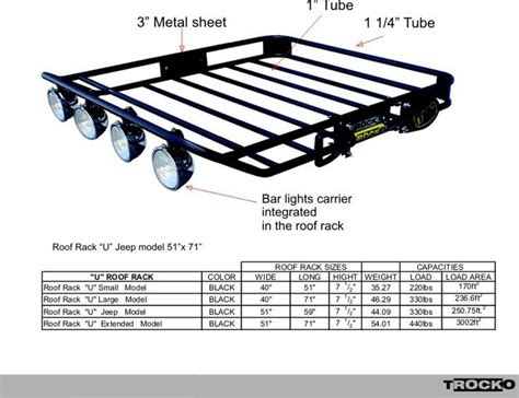 Truck Roof Rack With Light Bar by Trocko Roof Rack W Integrated Light Bar Truck