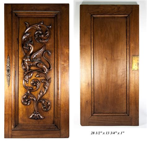 Carved Antique Griffin Cabinet Door Wall Plaque