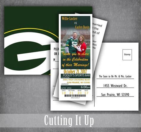 football ticket invitations football wedding invitation set sport wedding football theme