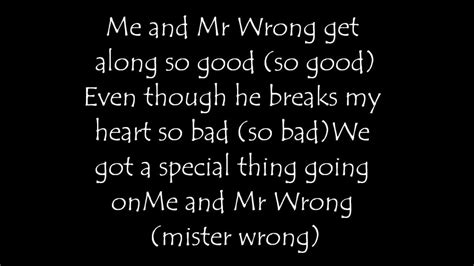 lyrics mr mr wrong by j blige feat lyrics