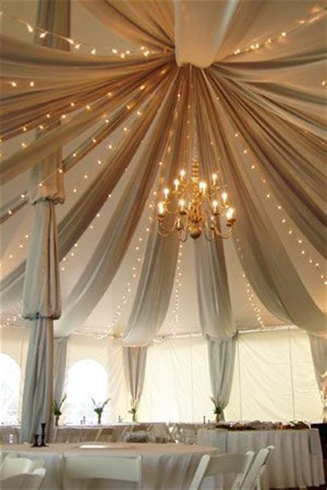 wedding decorations fabric draping sperry peak tent draping chandelier lights and