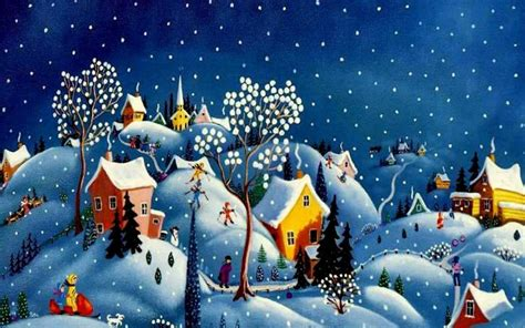 Wallpaper Christmas Village | christmas village wallpapers wallpaper cave
