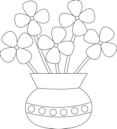 How To Draw Flowers In A Vase by Gallery Drawing Of Flowers In Vase Easy Drawing