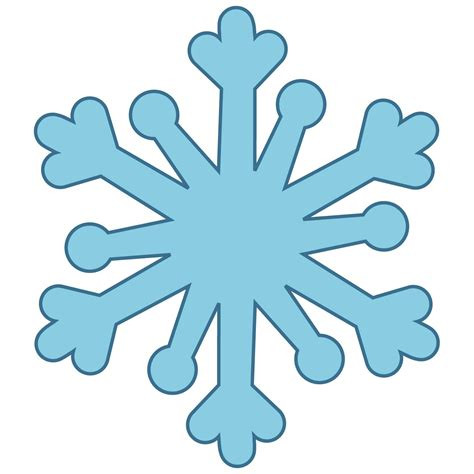 Simple Snowflake Template by Simple Snowflakes Clipart Best
