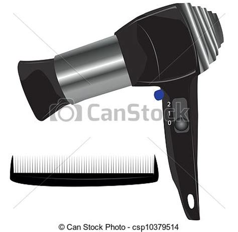 Hair Dryer Stock Clip vector clip of vector illustration of hair dryer on white background csp10379514 search