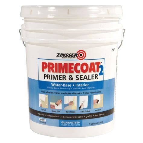 Zinsser Ceiling Paint Review by Zinsser Primecoat 5 Gal White Water Based Interior Primer