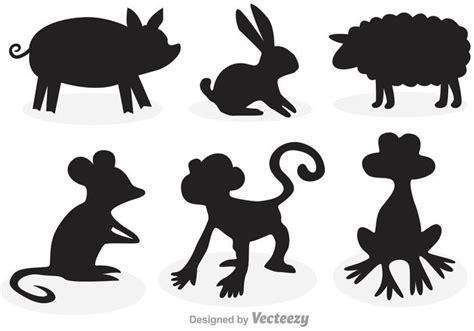 imagenes siluetas negras animals cartoon silhouettes download free vector art