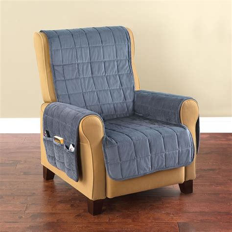 pet covers for recliners the non slip furniture protecting pet covers hammacher