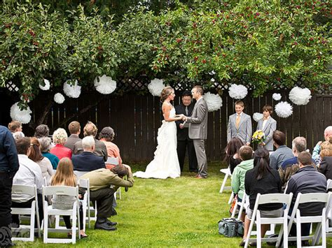 backyard wedding ceremony and reception 3rd choice is a beautiful backyard intimate and small