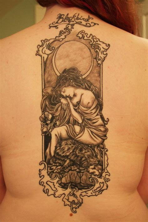 art deco tattoo design nouveau s