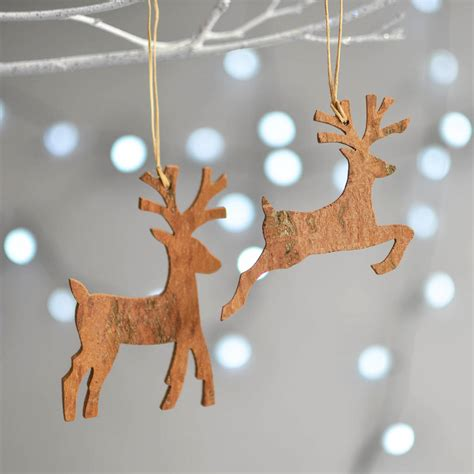wooden cinnamon reindeer christmas decoration by nom