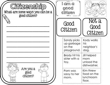citizenship and government interactive notebook for 2nd