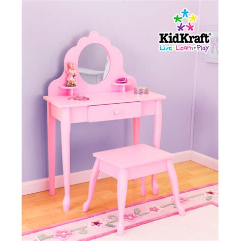Kidkraft Vanity And Chair by Kidkraft Medium Vanity Stool Pink Walmart