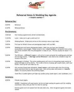 wedding day schedule of events template 1000 images about wedding timelines on