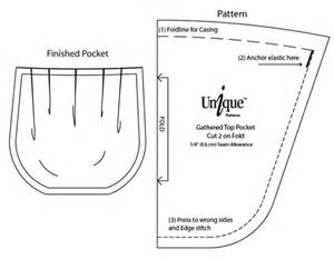 Pocket Template For Sewing by Fit Me Patterns Custom Fit Patterns Gathered Top Pocket