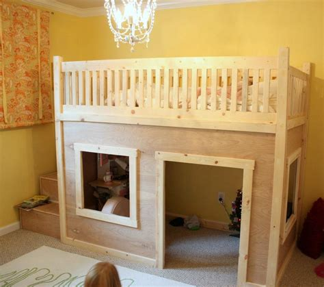 playhouse loft bed pdf woodwork playhouse bed plans download diy plans the