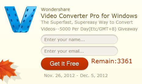 Wondershare Giveaway - giveaway wondershare video converter pro free for everyone daves computer tips