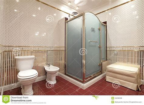 Bathroom stock photo. Image of real, mirrors, sink, glass