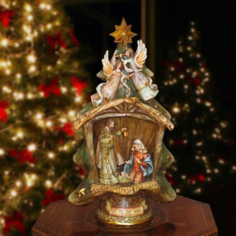 nativity christmas tree