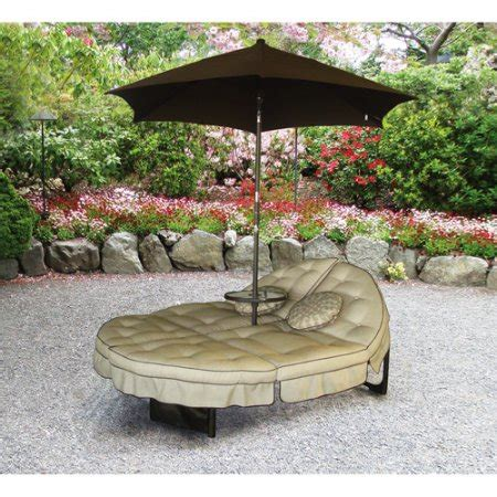 orbit chaise lounge mainstays deluxe orbit chaise lounge with umbrella side