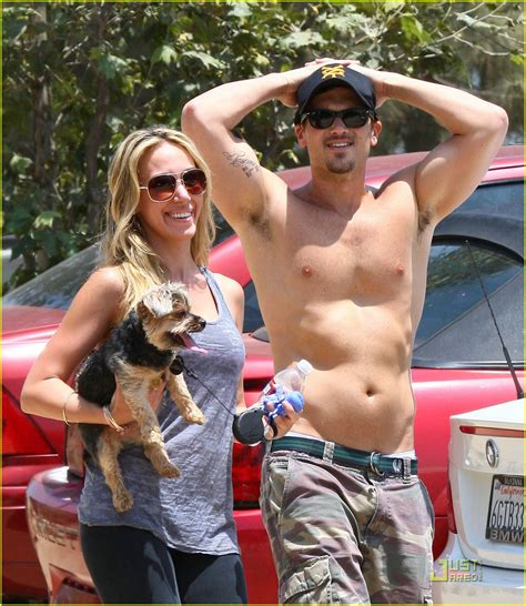 full sized photo of nick zano shirtless bicep tattoo 08