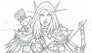 draw sylvanas windrunner from world of warcraft step by