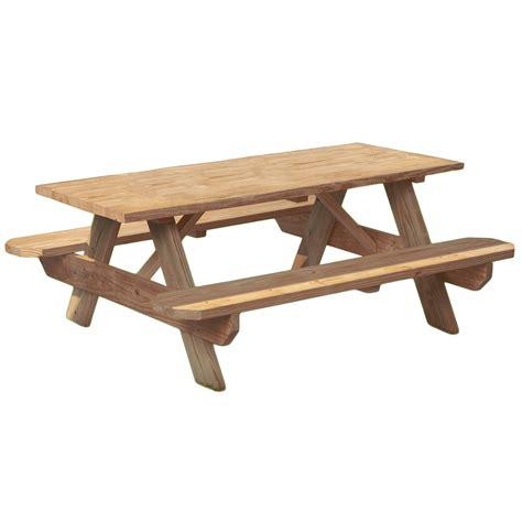wood picnic table kit 6 wood picnic table kit
