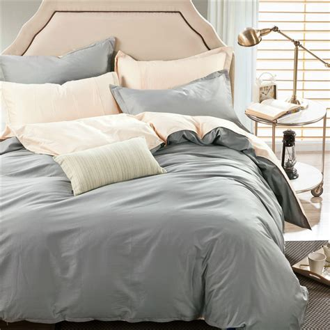 Plain Bed Linen Sets Fashion Solid Cotton Duvet Cover 4pcs Bedding Set Simple Larry Colorful Plain Bed Sheet