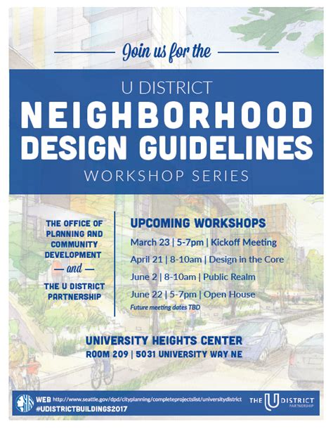 design guidelines seattle updating the u district urban design guidelines to reflect