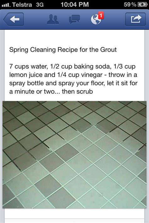 Grout Cleaner Recipe Grout Cleaning Recipe Tips Household Pinterest