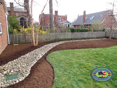 Landscape Edging With Drainage Drainage Design Galleries Independence Landscape Lawn Care