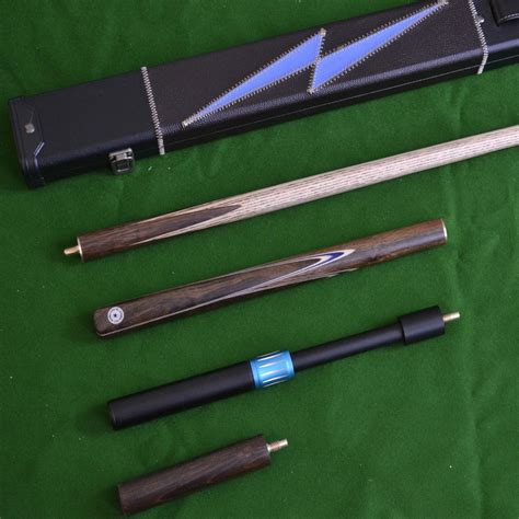 Handmade Cues - handmade 4 snooker cue set with leather
