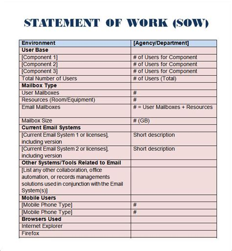 template word statement template
