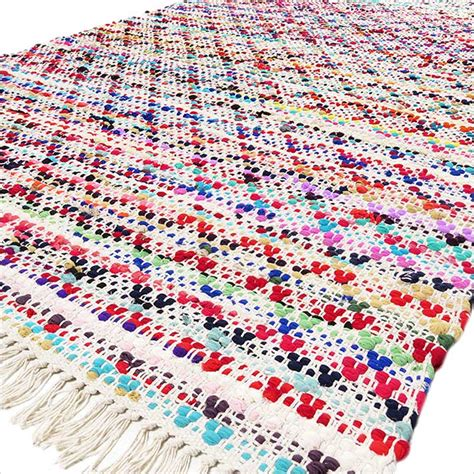 colorful rag rugs 4 x 6 ft colorful chindi decorative woven rag rug bohemian boho indian ebay
