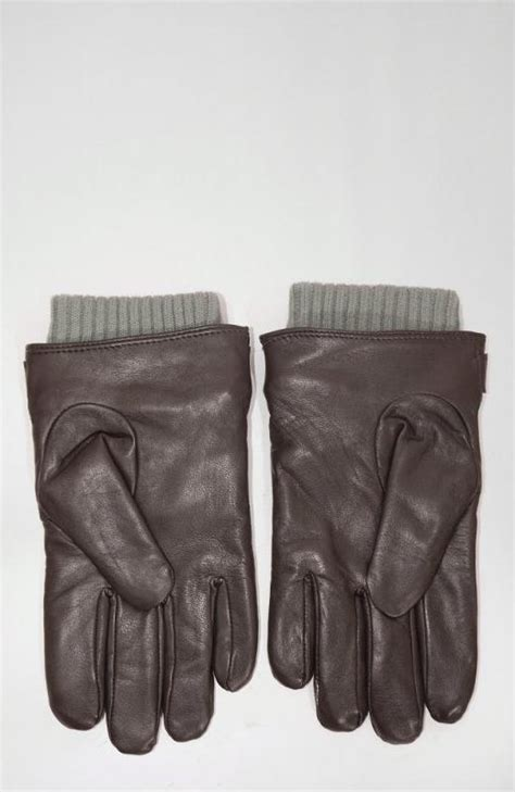 Mens Quilted Leather Gloves by Barbour Quilted Leather Gloves Brown Triads