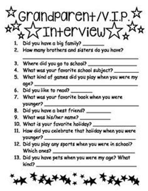 biography interview questions for middle school play this fun roll a grandparent game on grandparent s