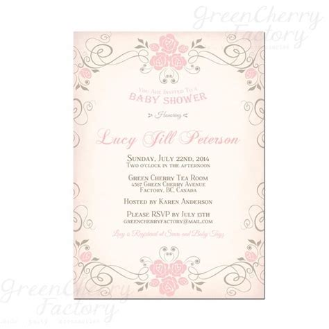 etsy vintage baby shower invitations baby shower shower and shabby chic baby on