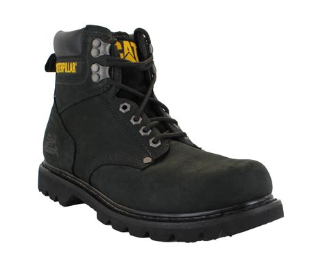 caterpillar second shift mens black casual classic lace up