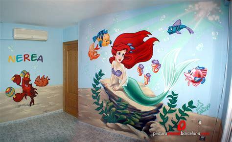 la sirenita habitacion infantil  pintura mural