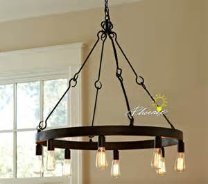 Kent Dining Room Light Fixtures Iron And Edison Bulbs Pendant Lighting In Matte Finish