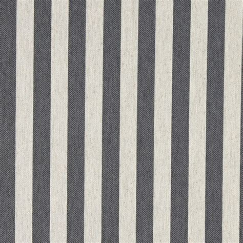 Grey And Off White Striped Linen Look Upholstery Fabric By