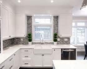 Kitchen Window Backsplash Backsplash Around Window Home Design Ideas Pictures Remodel And Decor