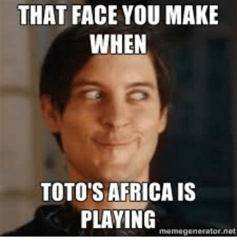 That Face You Make Meme - that face you make when toto s africais playing meme